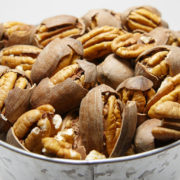 cracked fresh desirable pecans